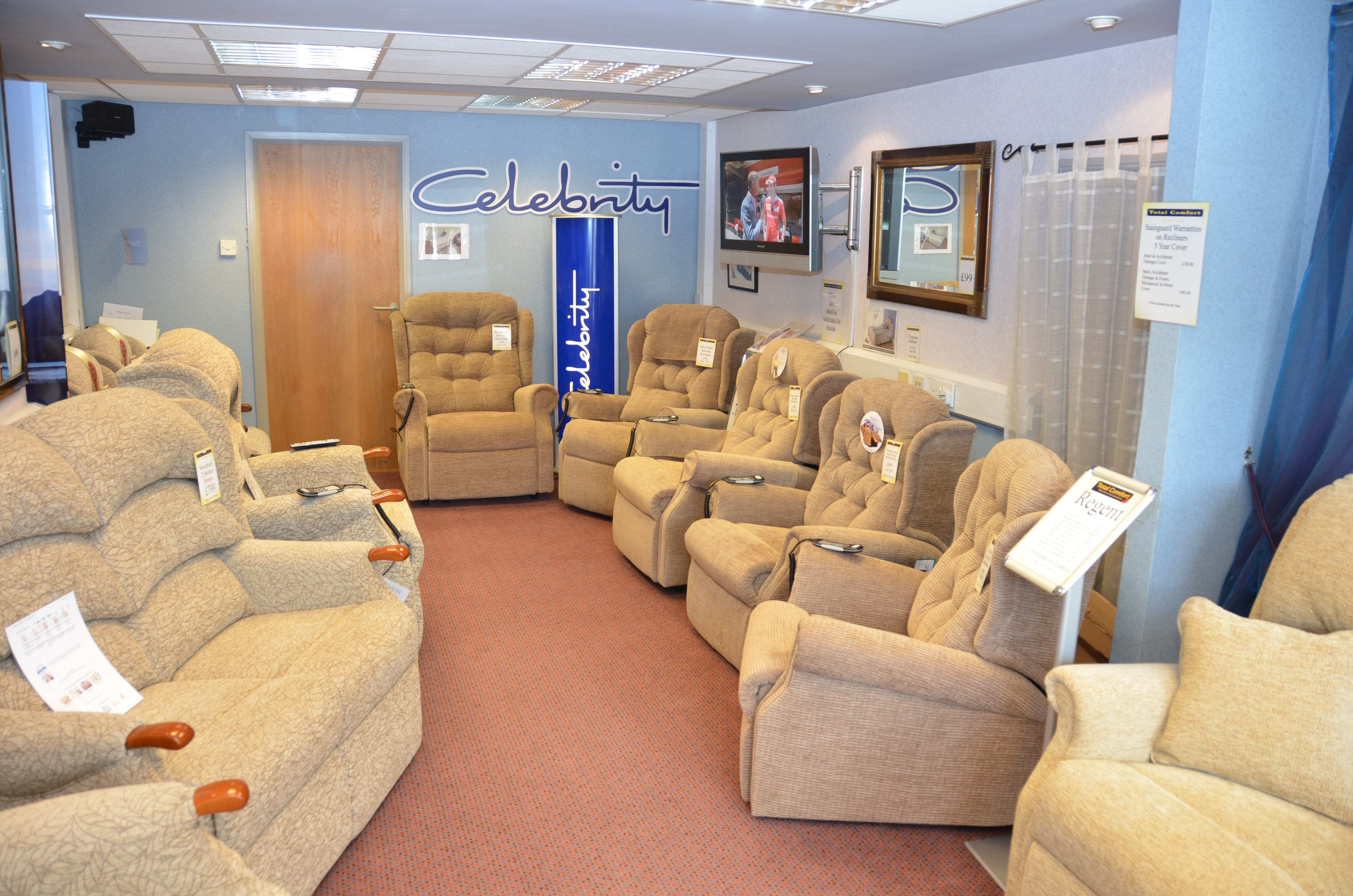 Total Comfort  Huddersfield Beds, Sofas, Recliners & Chair